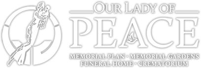 Our Lady of Peace Memorial Plans & Gardens Official Website Logo