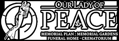 Our Lady of Peace Memorial Plans & Gardens Official Website Logo